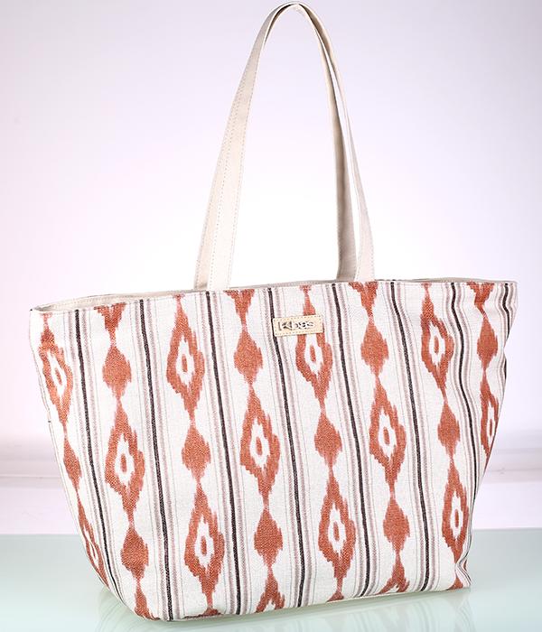Plátená plážová taška, oranžová
