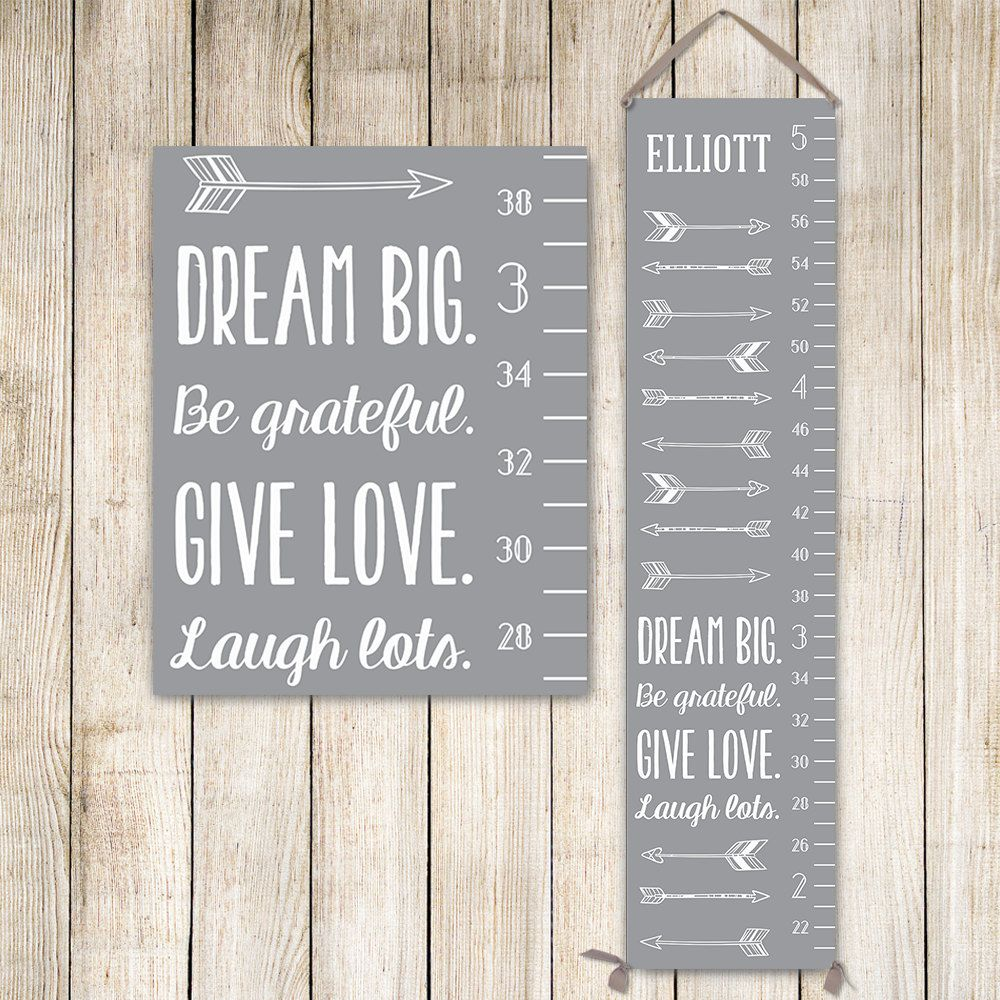 Modern growth chart personalized canvas growth chart grey kids modern growth chart personalized canvas growth chart grey kids art growth ruler nvjuhfo Image collections