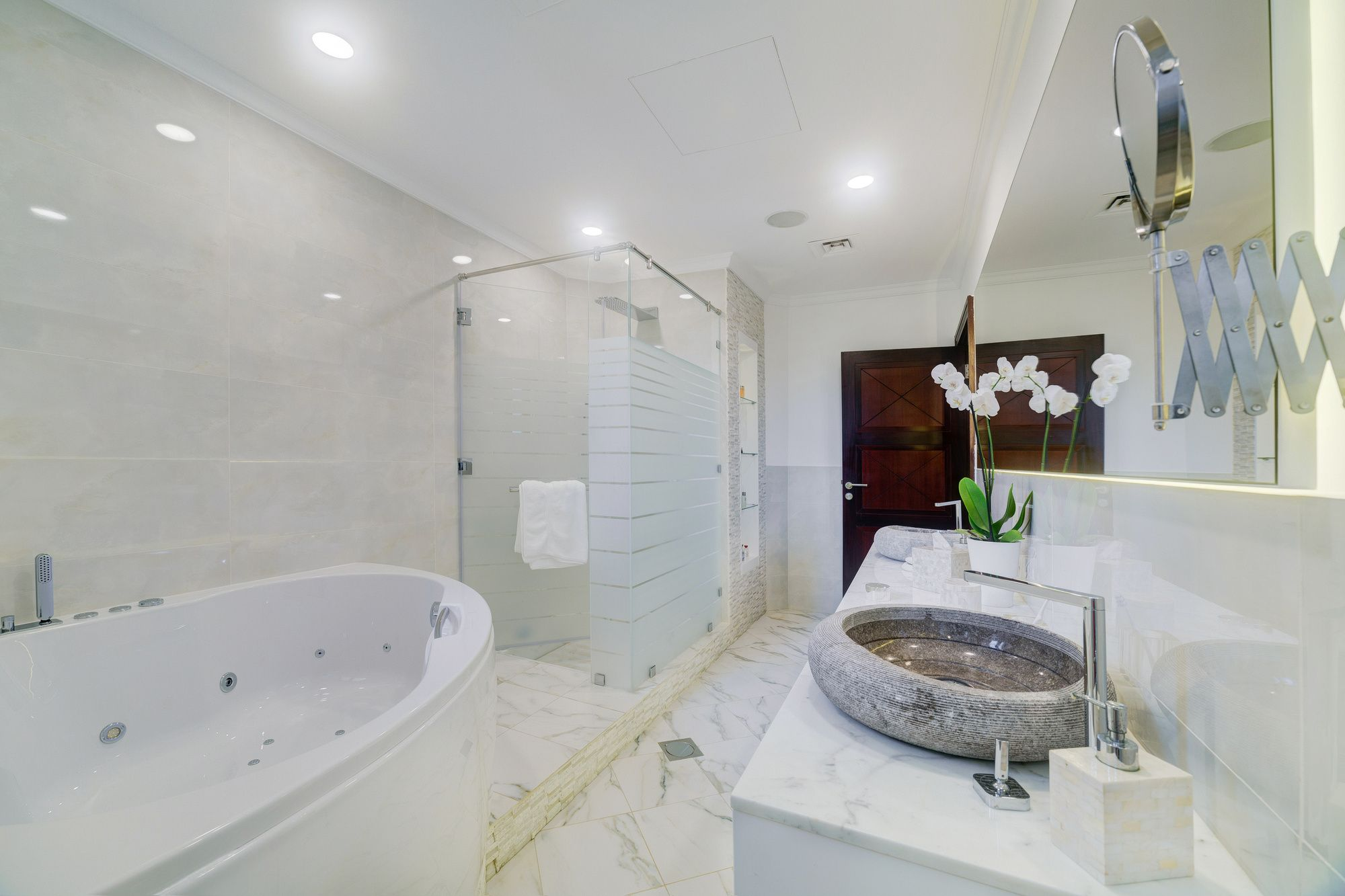 Bathroom Mirror Uae master bathroom renovation in luxury villa frond a, palm jumeirah