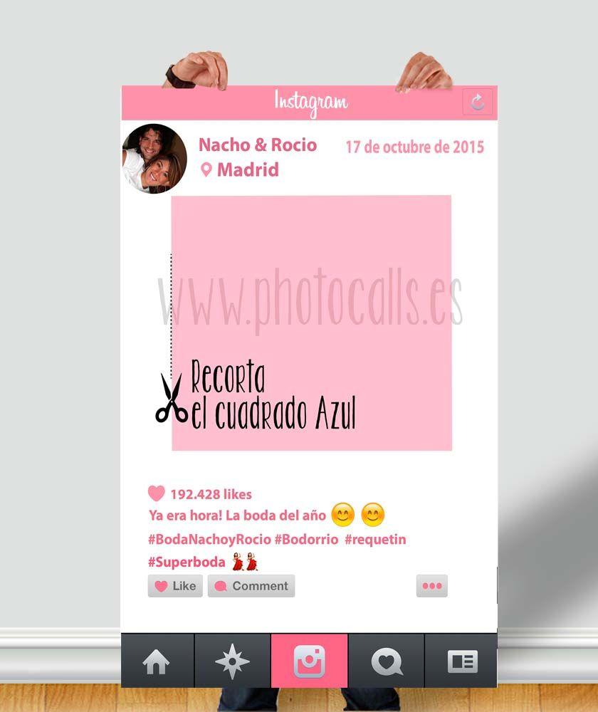Marco Instagram rosa para fiesta. #photocall #marcoinstagram | Marco ...