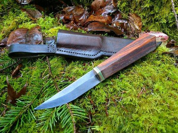 Handmade Puukko Knife 95mm Finnish Brisa Blade Scandinavian Grind With Cocobolo Handle Knife Knife Design Pocket Knife