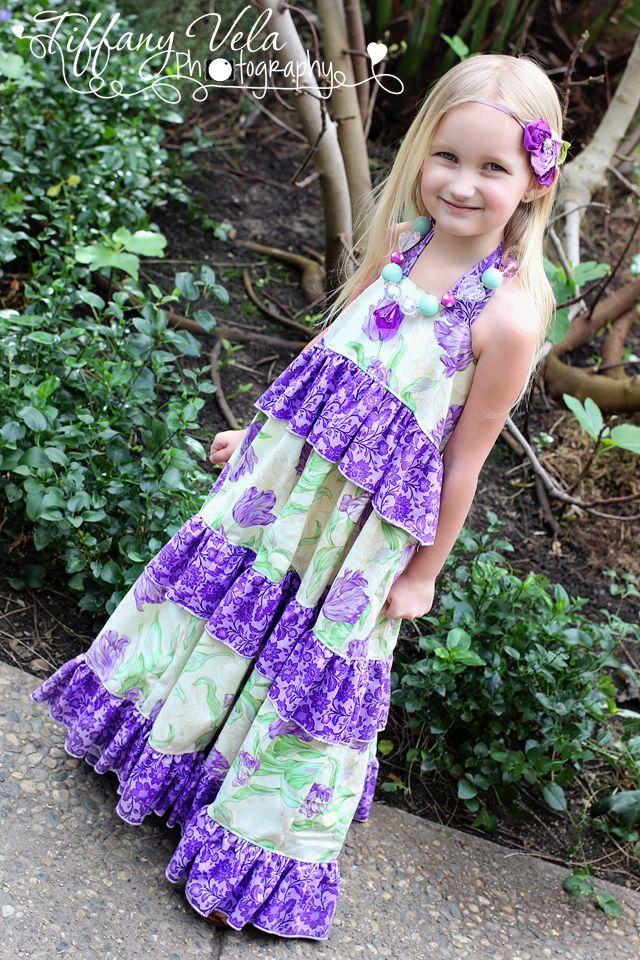 ae771ffb4 Girls Boutique Tiered Maxi Dress PDF Pattern