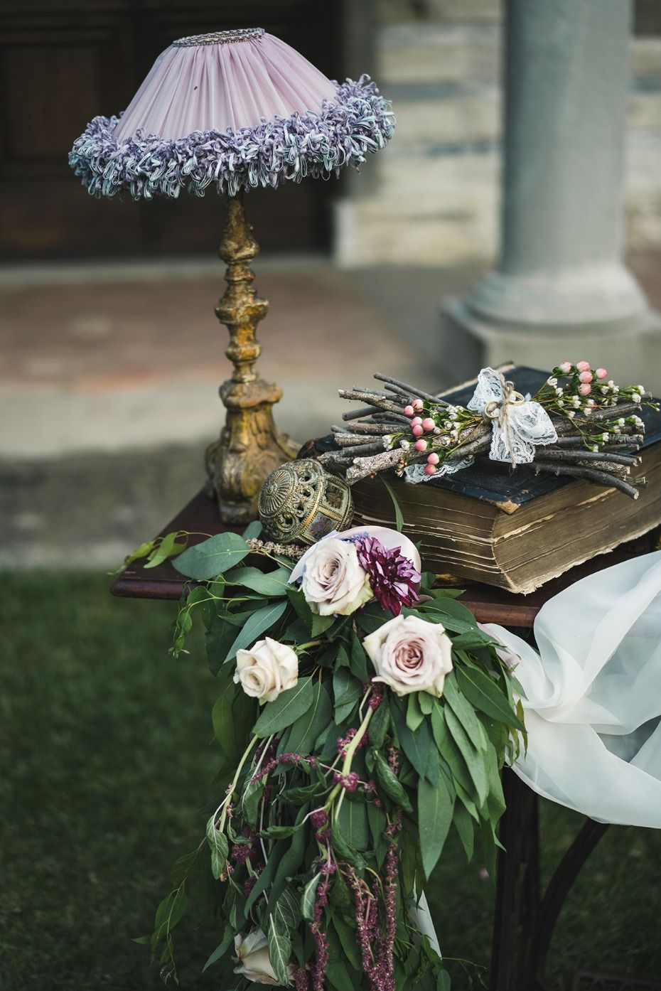 Wedding decoration ideas garden party  How To Have A Boho Inspired Wedding In Tuscany  Table Decor For