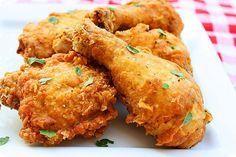 Pollo Delicioso Crujiente Por Fuera Y Muy Jugoso Por Dentro Pollo Frito