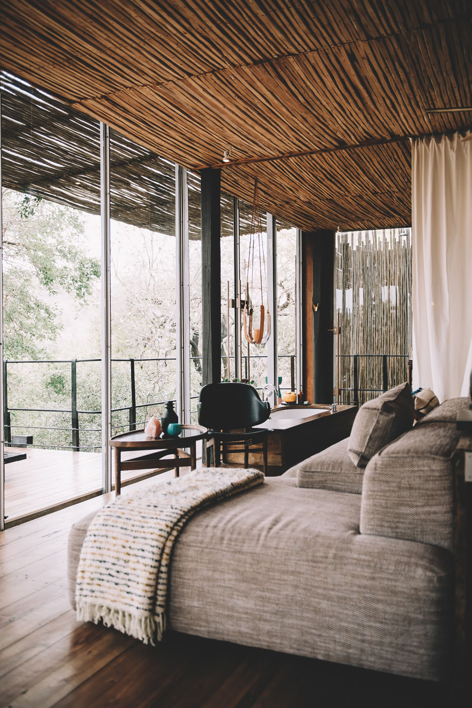 These South African Luxury Treehouses Just Unveiled Their New Look African Interior African House Bedroom Design