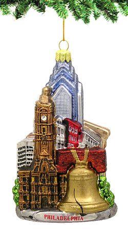 Glass Noble Gems: Philadelphia Christmas Ornament ...