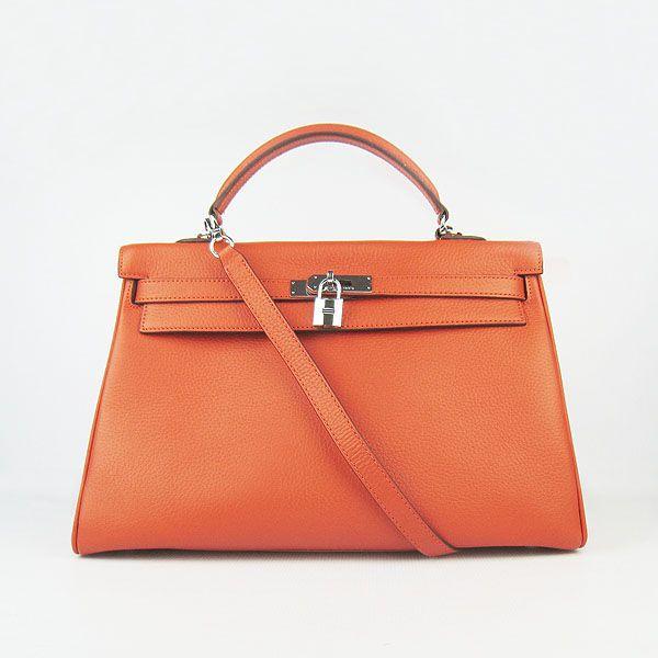Hermes Kelly orange bag...