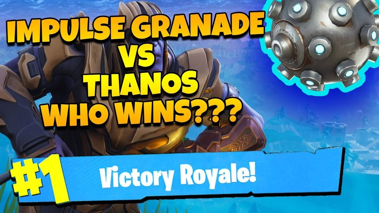 Fortnite Thanos CAN WE KILL THANOS WITH IMPULSE?? Fortnite