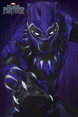 Black Panther Glow Maxi Poster