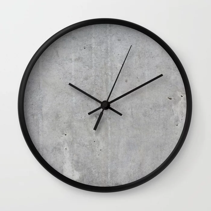 Buy Concrete Wall Texture Wall Clock By Patternmaker Worldwide Shipping Available At Society6 Com Just One Of In 2020 Concrete Wall Texture Concrete Wall Wall Clock