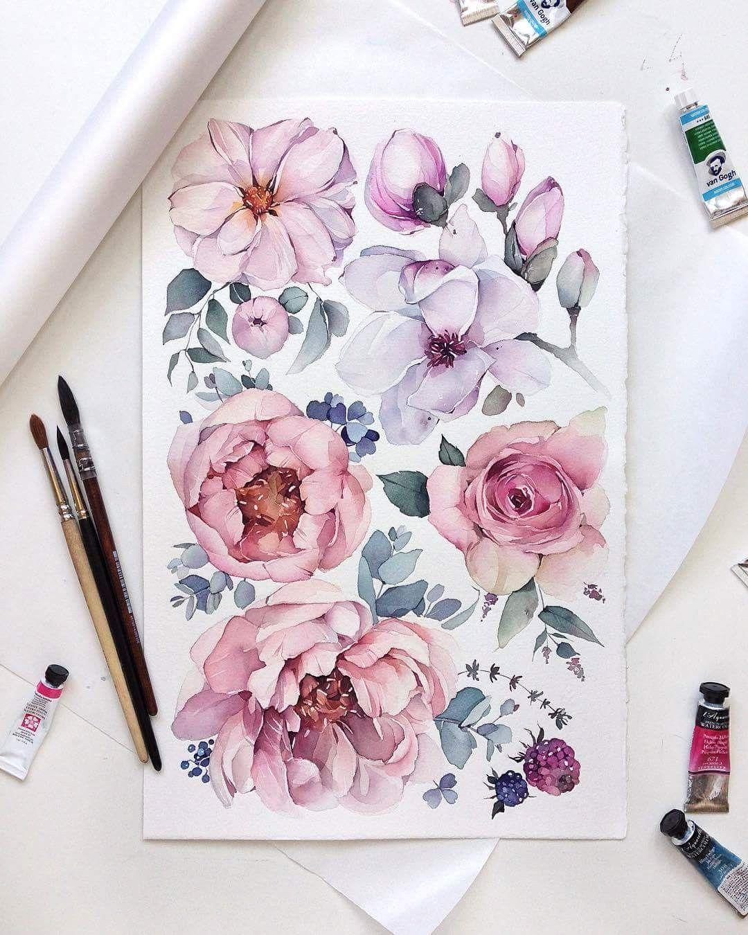 Pin Von Julia So Auf Roses Flowers Blumenzeichnung Blumen