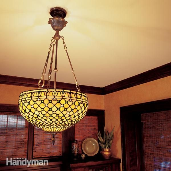 Change A Drab Room Into Dazzling One With New Overhead Light Fixture Here S How To Mount That Correctly And Safely Using Professional
