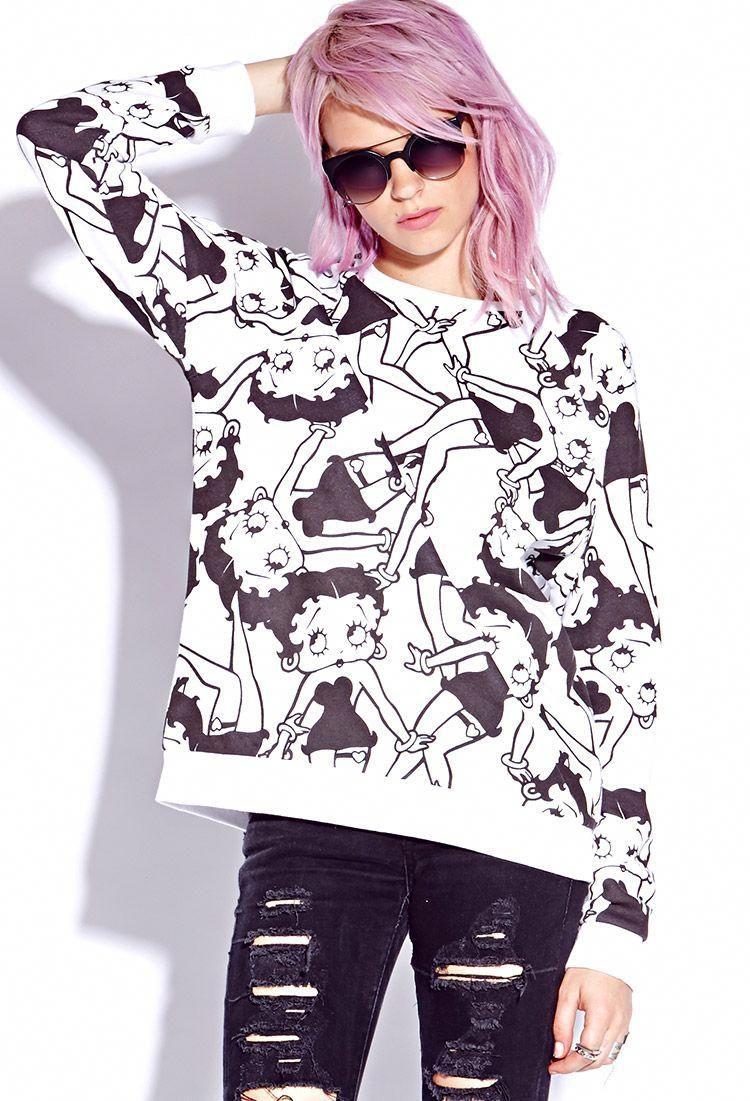 84be1588e4e Betty Boop Sweatshirt   FOREVER21 - 2000075051  bettybooppurses ...