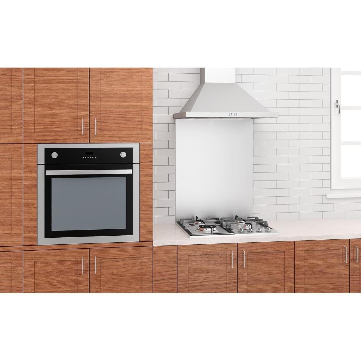 Ancona 24 Casetta 600 Cfm Convertible Wall Mount Range Hood Silver Wall Mount Range Hood Kitchen Large Appliances Large Appliances