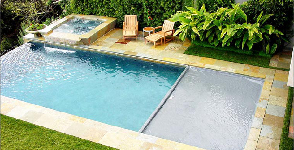 Edgeless Swimming Pool With Automatic Safety Cover Home
