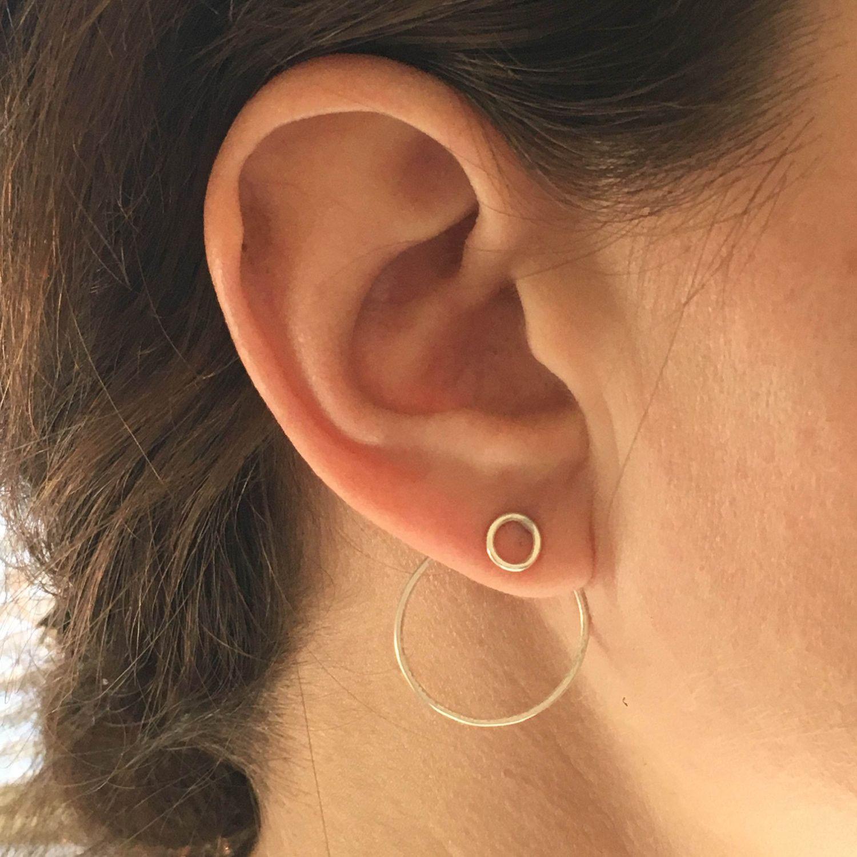 c0fe0fe38472a Elegant Distinctive and Modern Small Open Circle Ear Jacket Stud ...