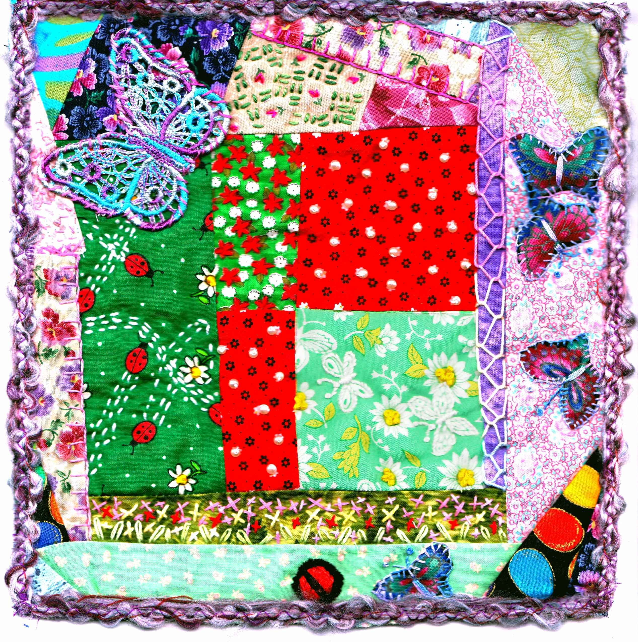 Embellished quilt block by gail rodgers gailus sewing projects