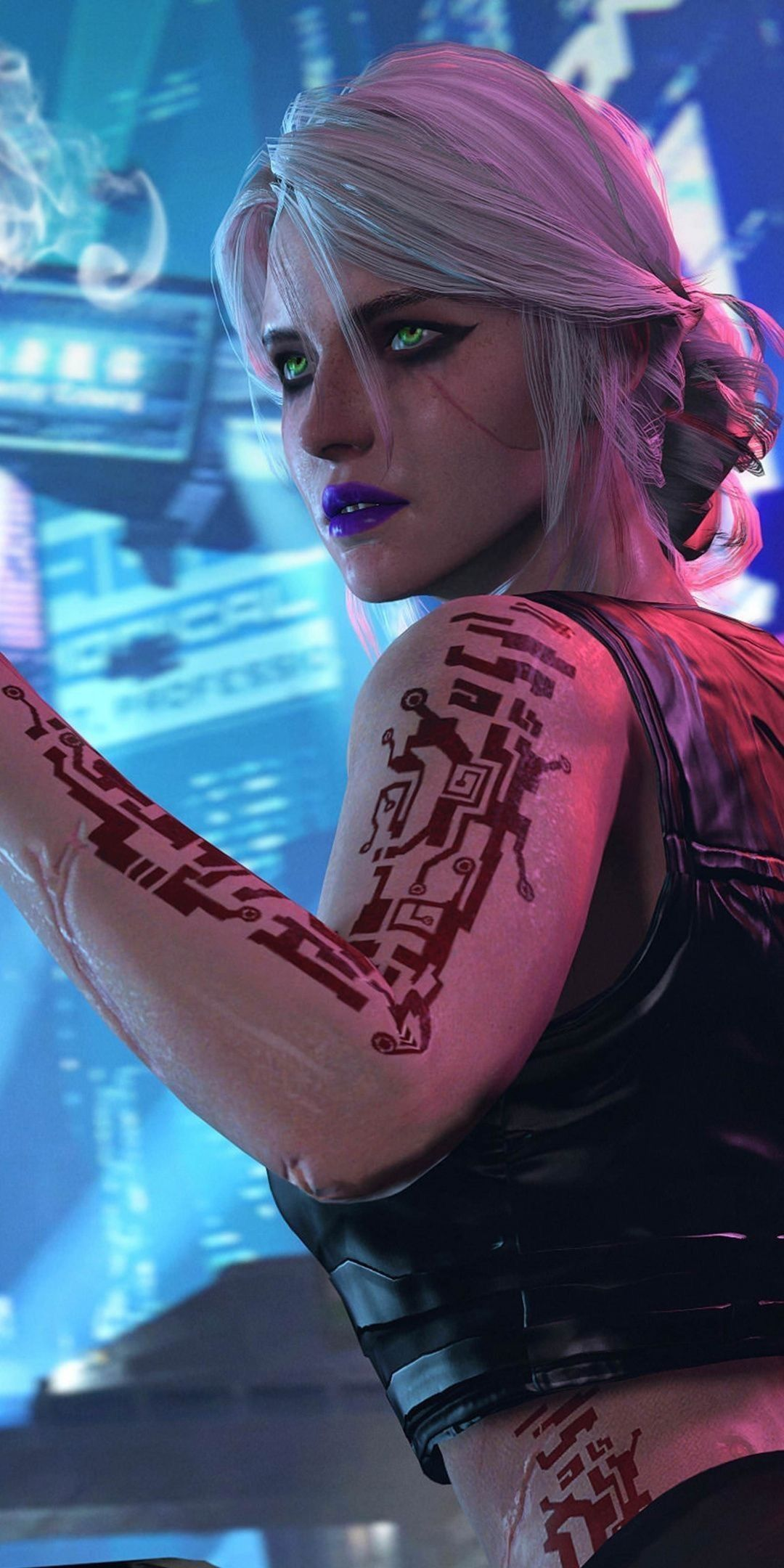 portrait photography Cyberpunk girl, Cyberpunk aesthetic