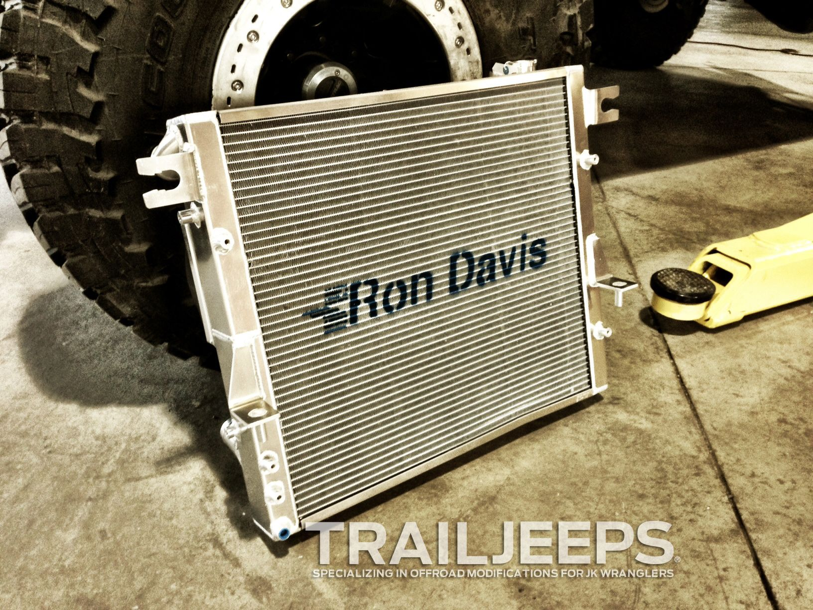 Ron Davis Aluminum Radiator Specifically Designed To Work With