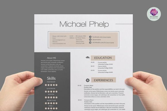 Professional Resume Template By Chic Templates On Creative Market