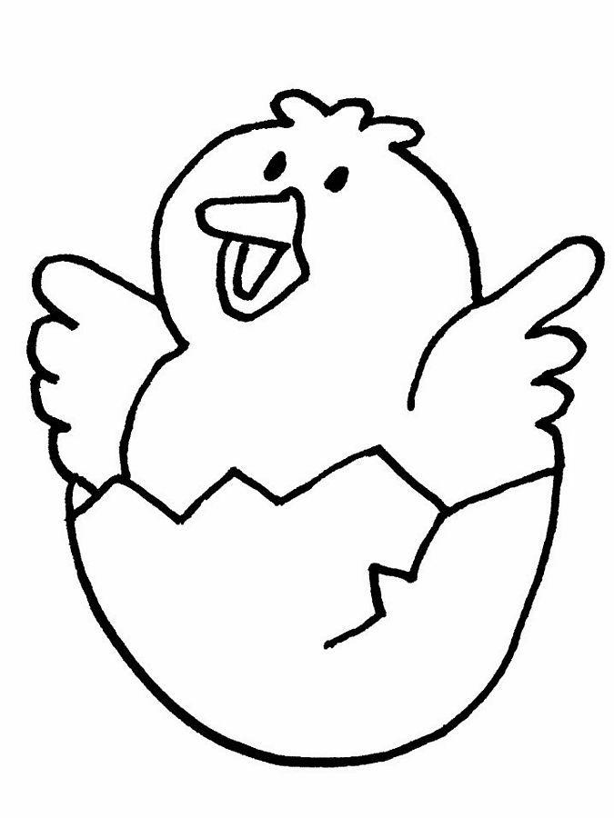 easter coloring pages Easter Coloring Pages little chicken in egg
