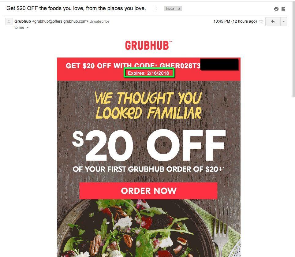 25 w grubhub coupons promo codes deals 2020 coding