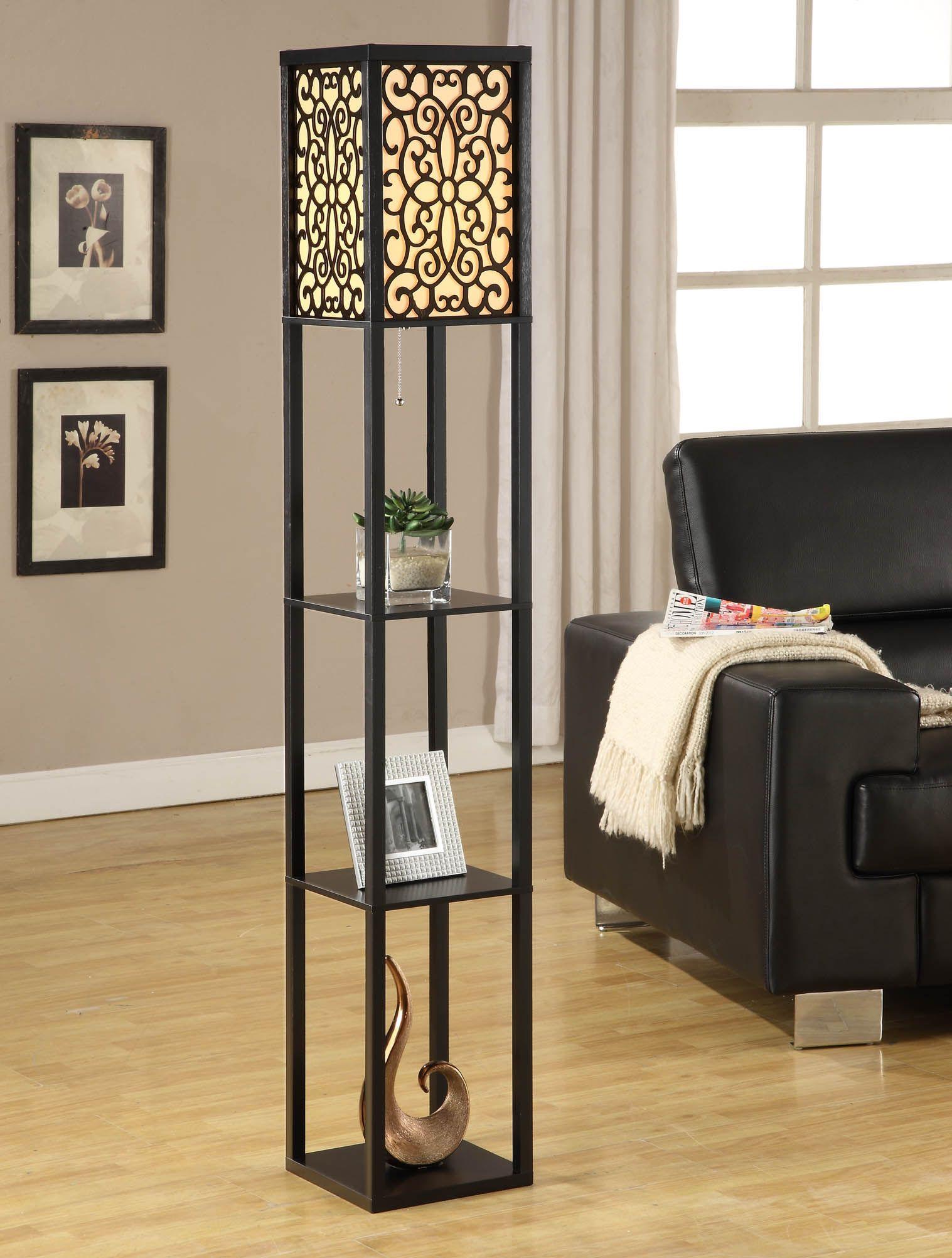 Kirkland S Floor Lamp With Shelves Floor Lamps Living Room Floor Lamp Bedroom