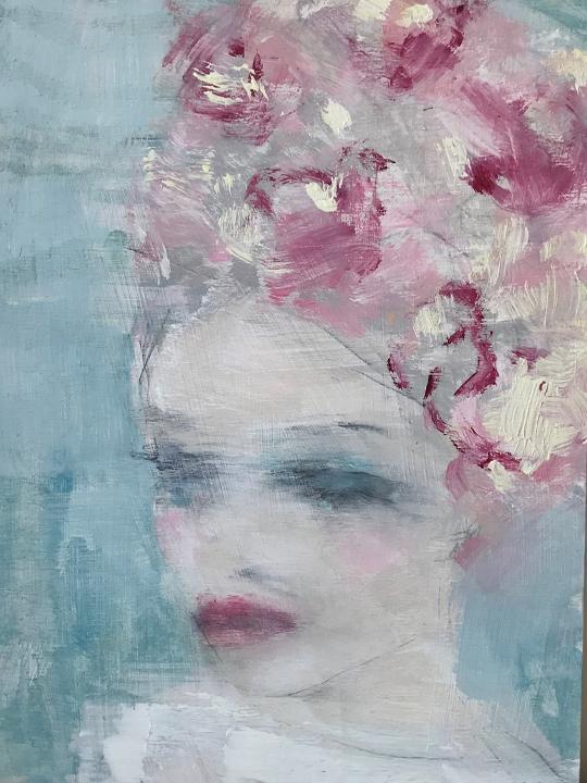 Jorunn Mulen Original Painting Between Days Dreams Zeichnen