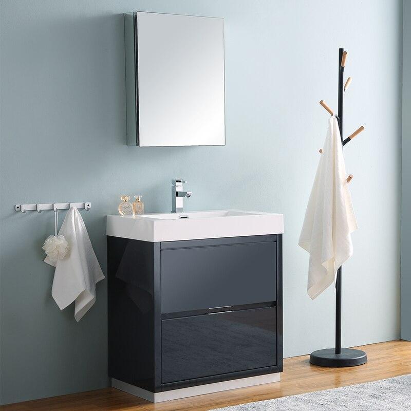 "Fresca Valencia 30"" Modern Bathroom Vanity w/ Medicine ..."