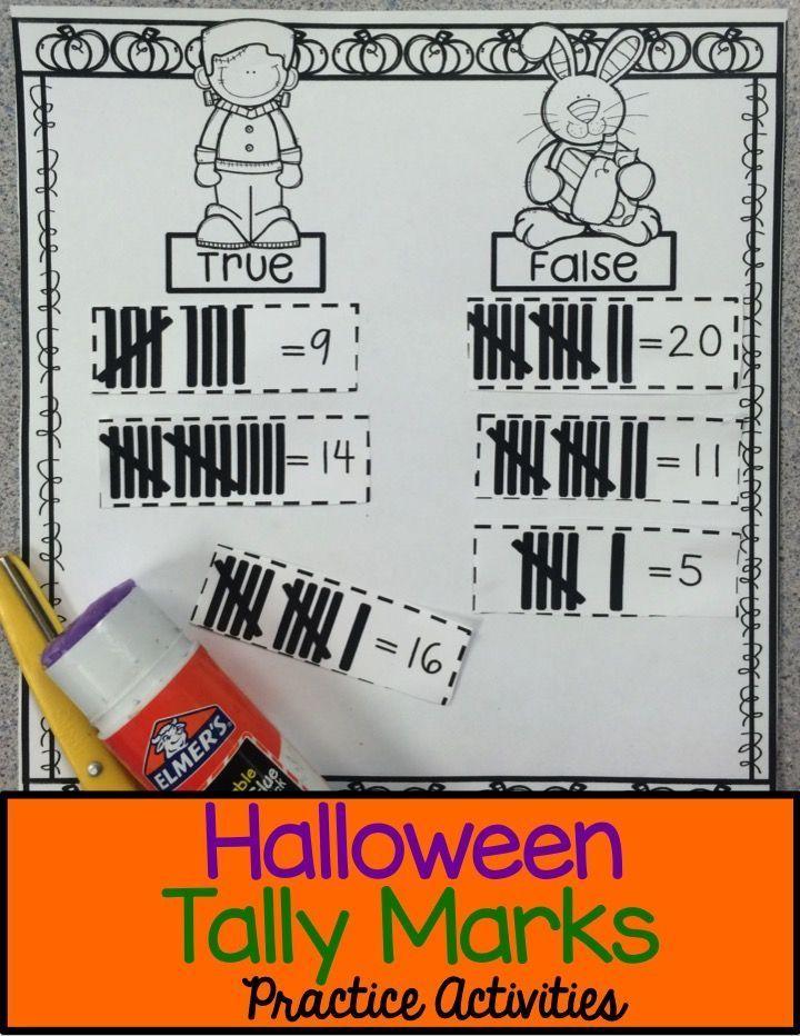Halloween Math Tally Marks   Halloween math, Tally marks and ...