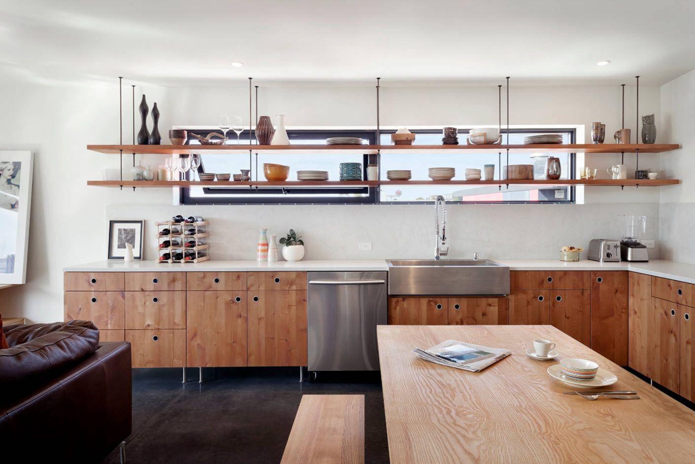 10 Wonderful Kitchen Wood Shelf Design Ideas For Storage In Your