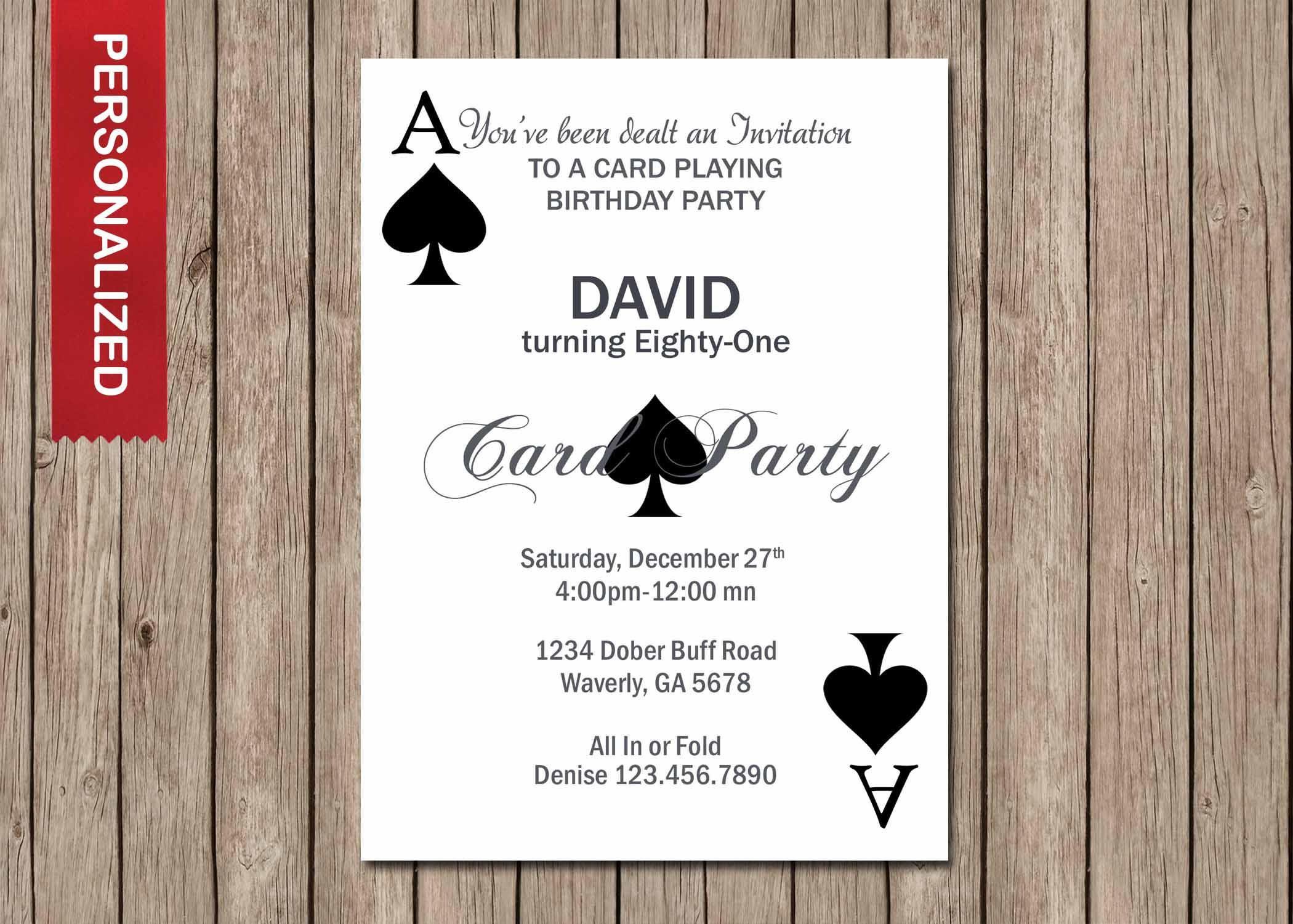 Casino Invitation, Casino Birthday Party Invitation, Casino Birthday ...