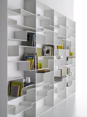 Bibliothèque Melody Blanc laqué - MDF Italia | decoration ...