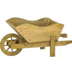 Woodland Wooden Wheelbarrow Planter Garden Ornament Smart Http Www Amazon Co Uk Dp B00stqtofo Ref Cm Sw R Wooden Wheelbarrow Wheelbarrow Planter Wheelbarrow