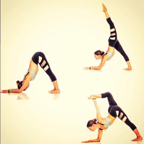 nesh racer stripe crop legging and geo bralette  yoga