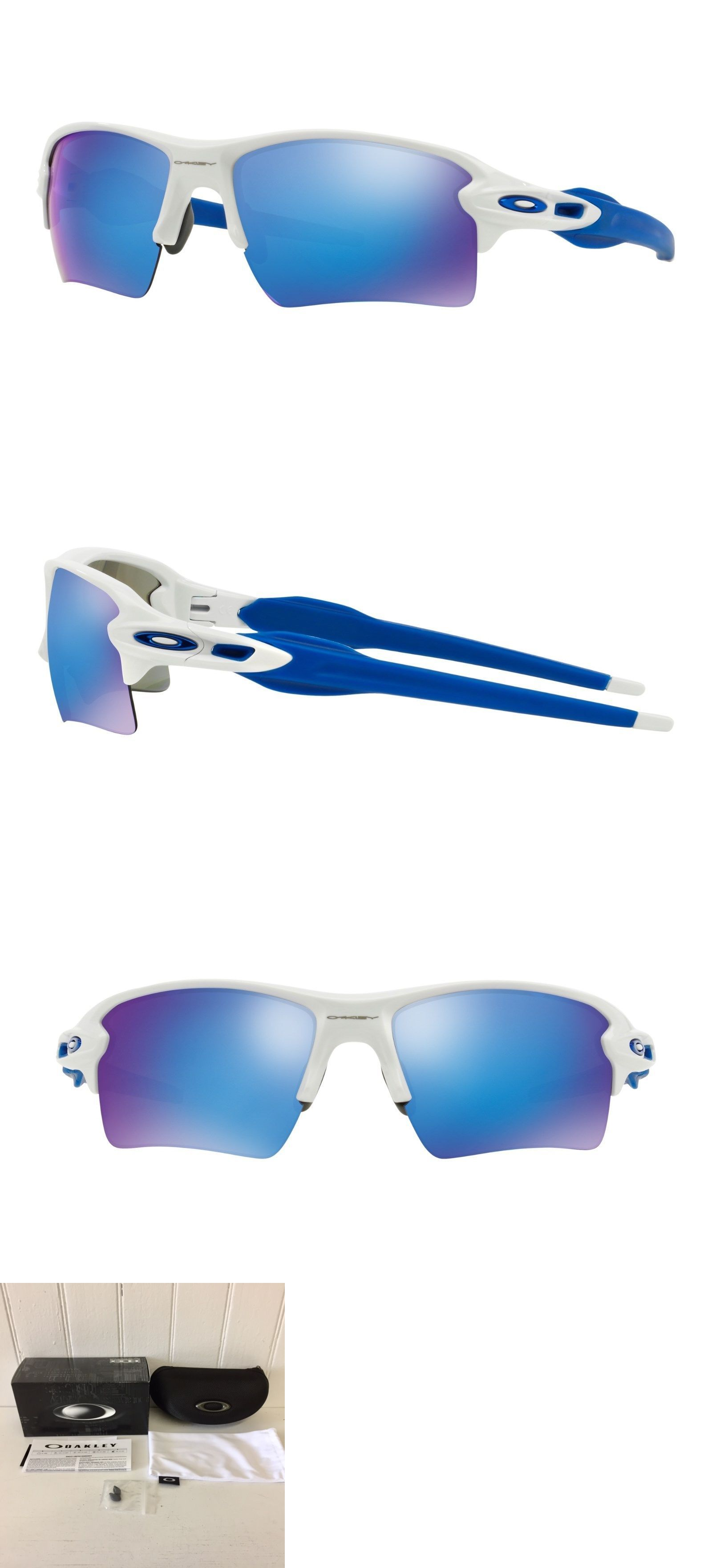 66c576a2384 Sunglasses and Goggles 56185  Oakley Oo9188-20 Flak 2.0 Xl Polished White W  Sapphire