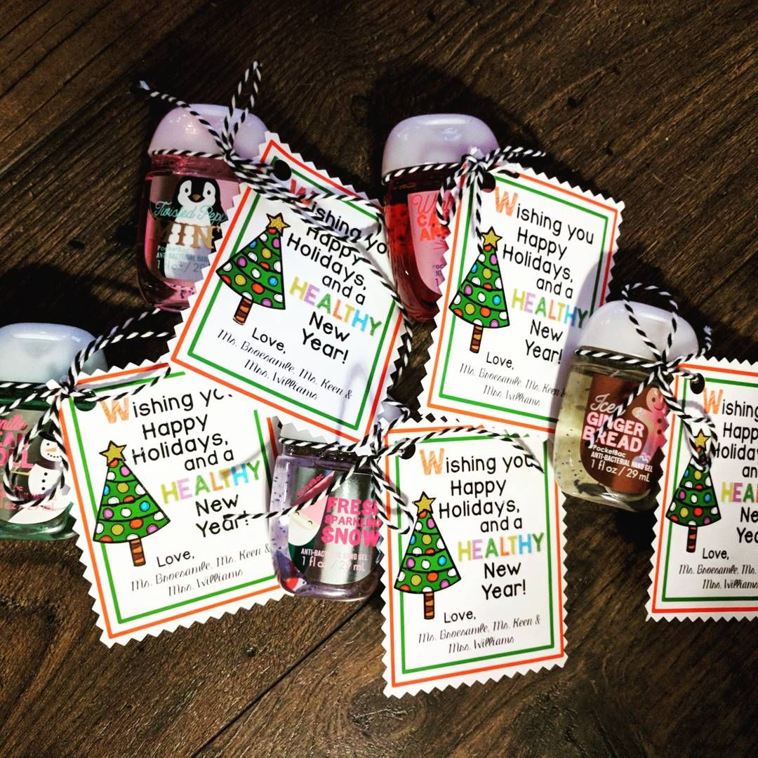 Hand Sanitizer Gift Tags For Classroom Student Holiday Gifts