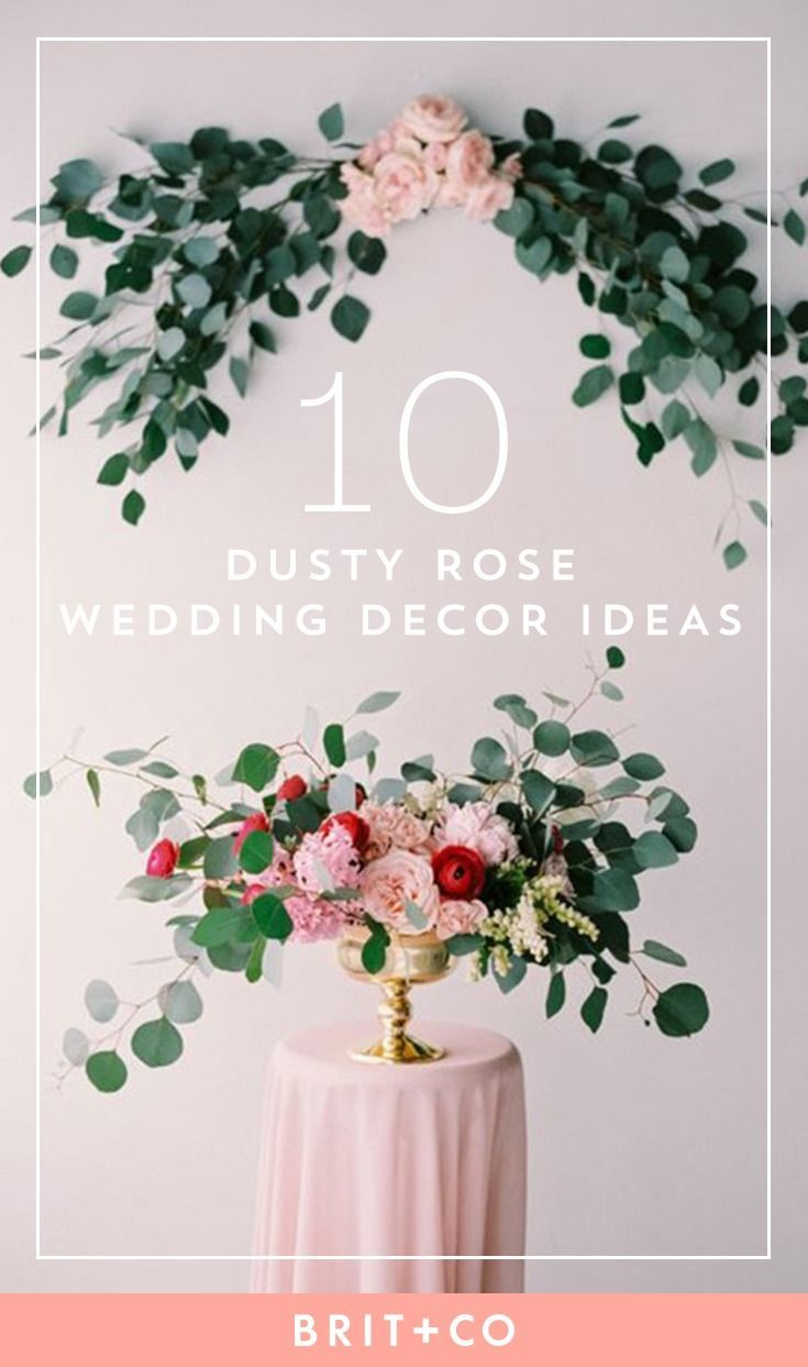 These dusty rose wedding decorations are oh so swoon-worthy. | 会場 ...