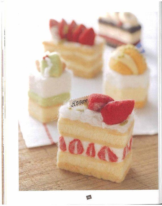 Felt cakes/ Feltro Japonesa/ Felt pattern book pdf/ by PatternZone