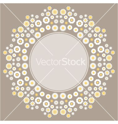 Color decorative flower background vector by elenapro on VectorStock®