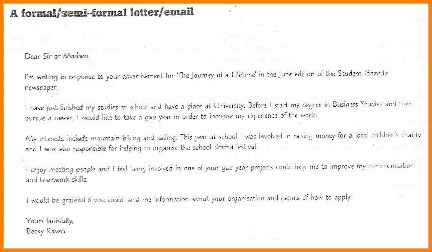 How To Write A Semi Formal Letter Nanny Resumed  Letters