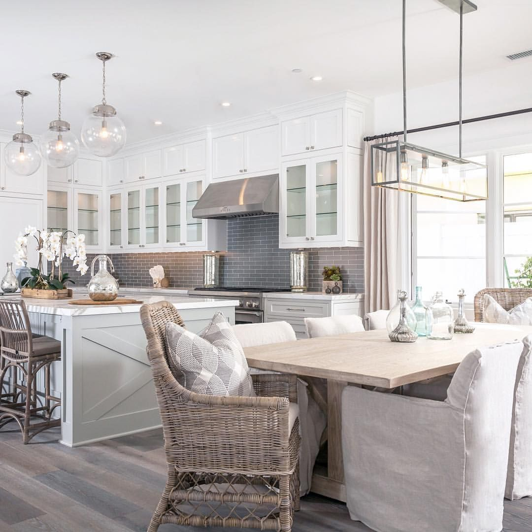 Modern Farmhouse Kitchen Grey  White Modern Farmhouse Kitchen & Dining Nook  Kitchens