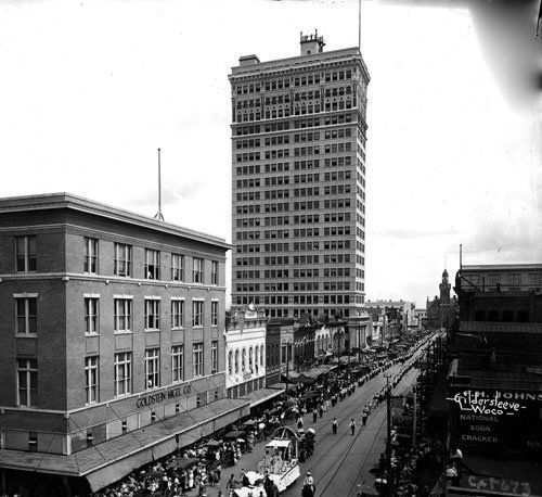 Austin Avenue Waco Texas After Alico Building Completion 1910s