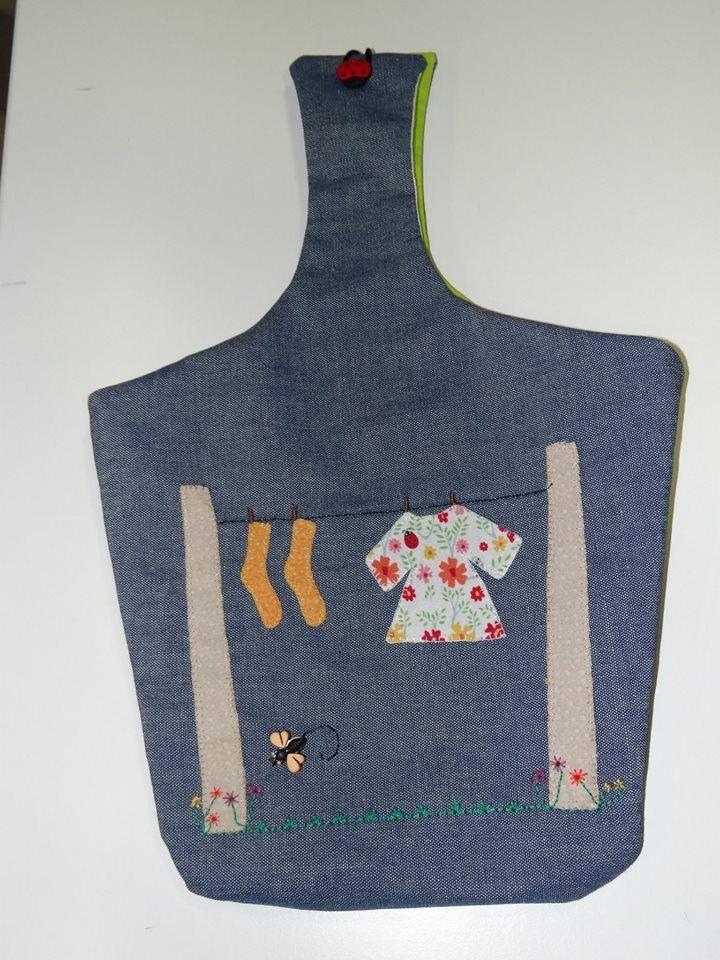 Bolsa para las pinzas cocina patchwork manualidades for Pinzas de cocina