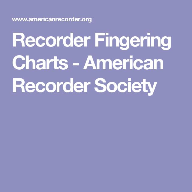 Recorder Fingering Charts - American Recorder Society