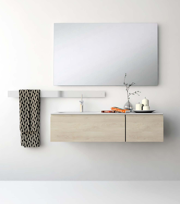 UNIBAÑO-Pack110-Baño Mueble de baño con encimera de 120cm y mueble ...