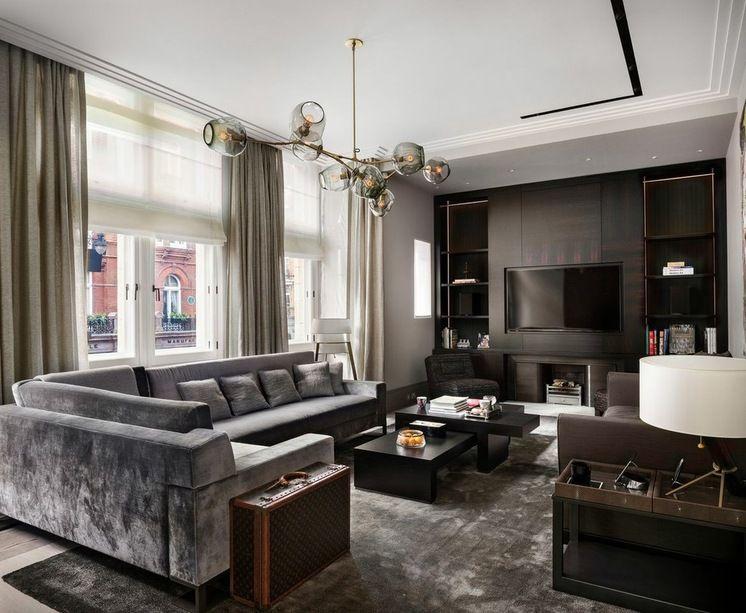 Love This Dark Masculine Look Interiordesign Livingroom