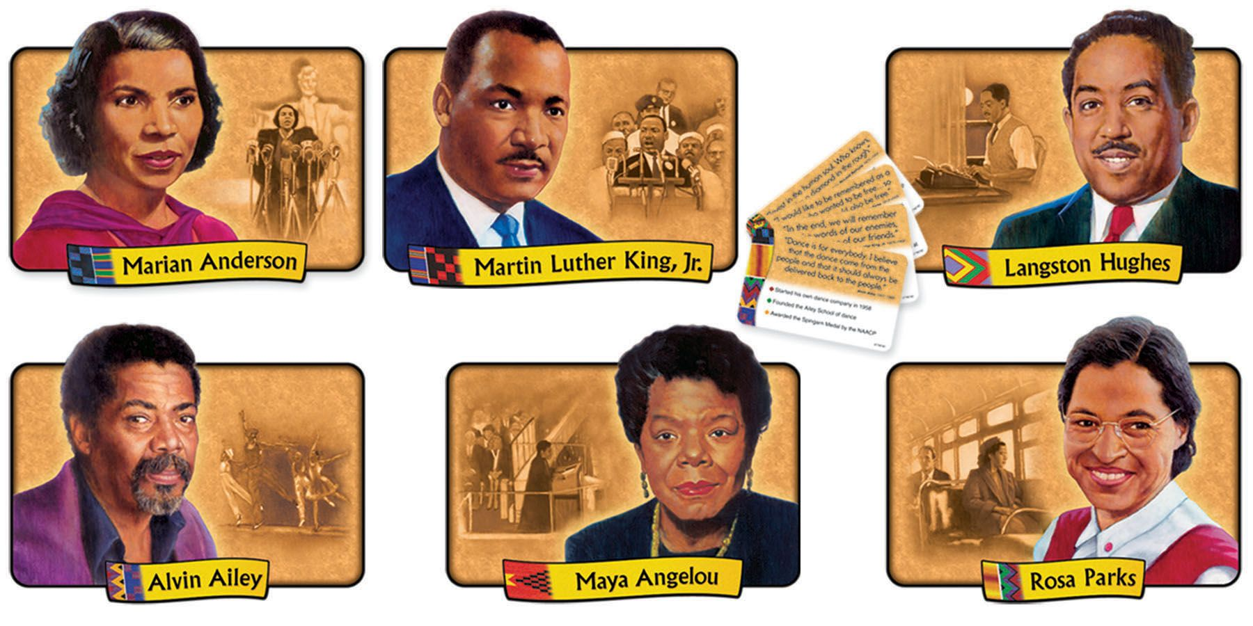 African American Achievers Bulletin Board Set