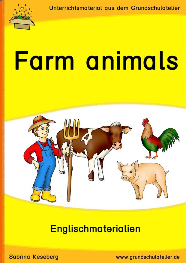 Farm animals (Bauernhoftiere) | Tiere auf dem bauernhof, Wortkarte ...