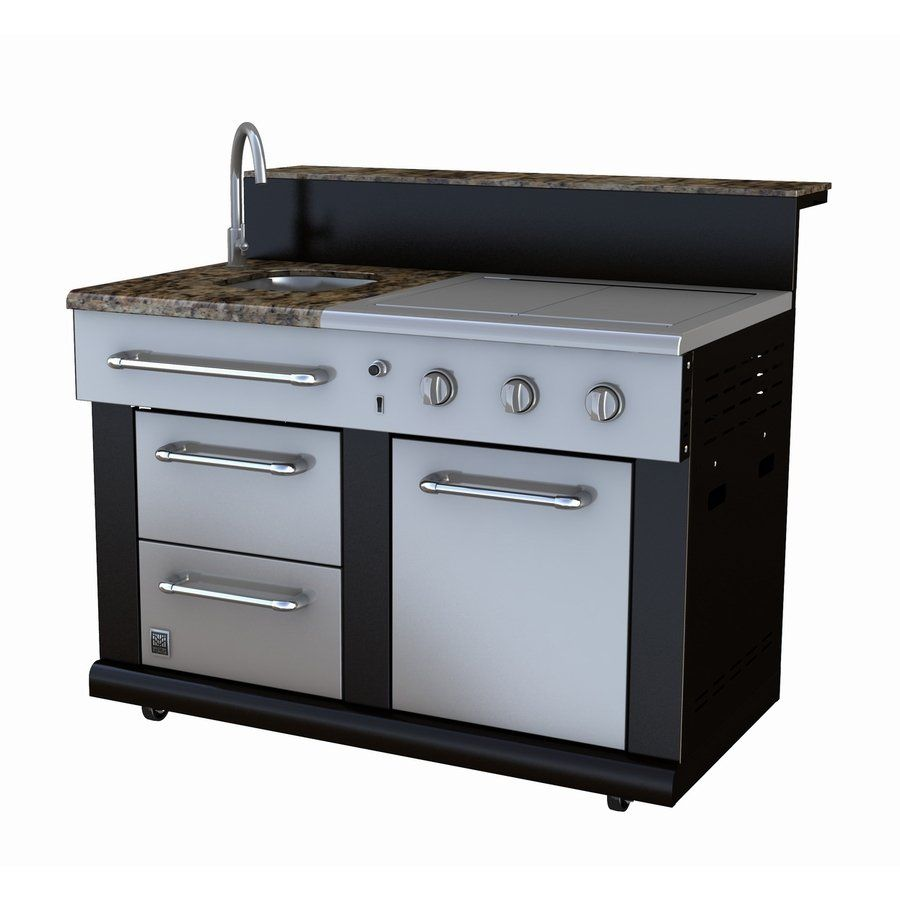 Master Forge 3 Burner Modular Outdoor Kitchen Sink And Side Burners Lowe S Canada Outdoor Kitchen Sink Modular Outdoor Kitchens Outdoor Kitchen